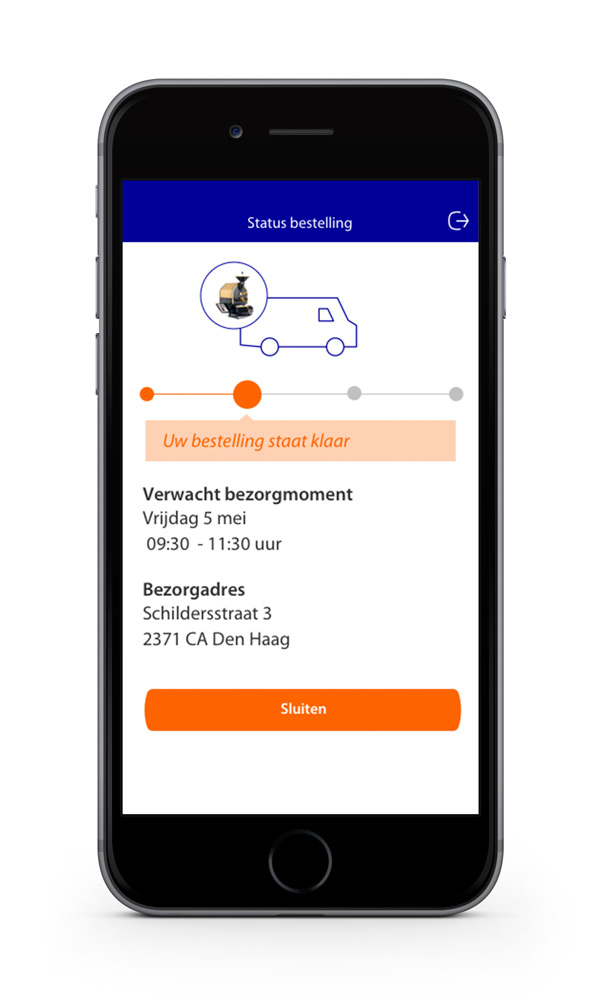 Rabobank Lease Prototype - Status bestelling - Maarten Somers